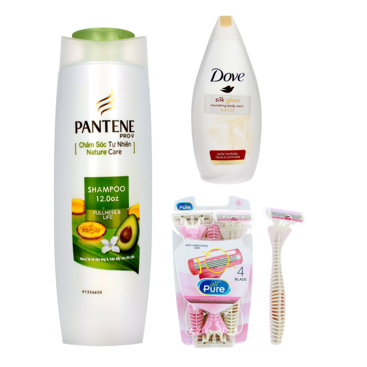 Home Essentials Womens Toiletry Gift Set Body Wash Shampoo