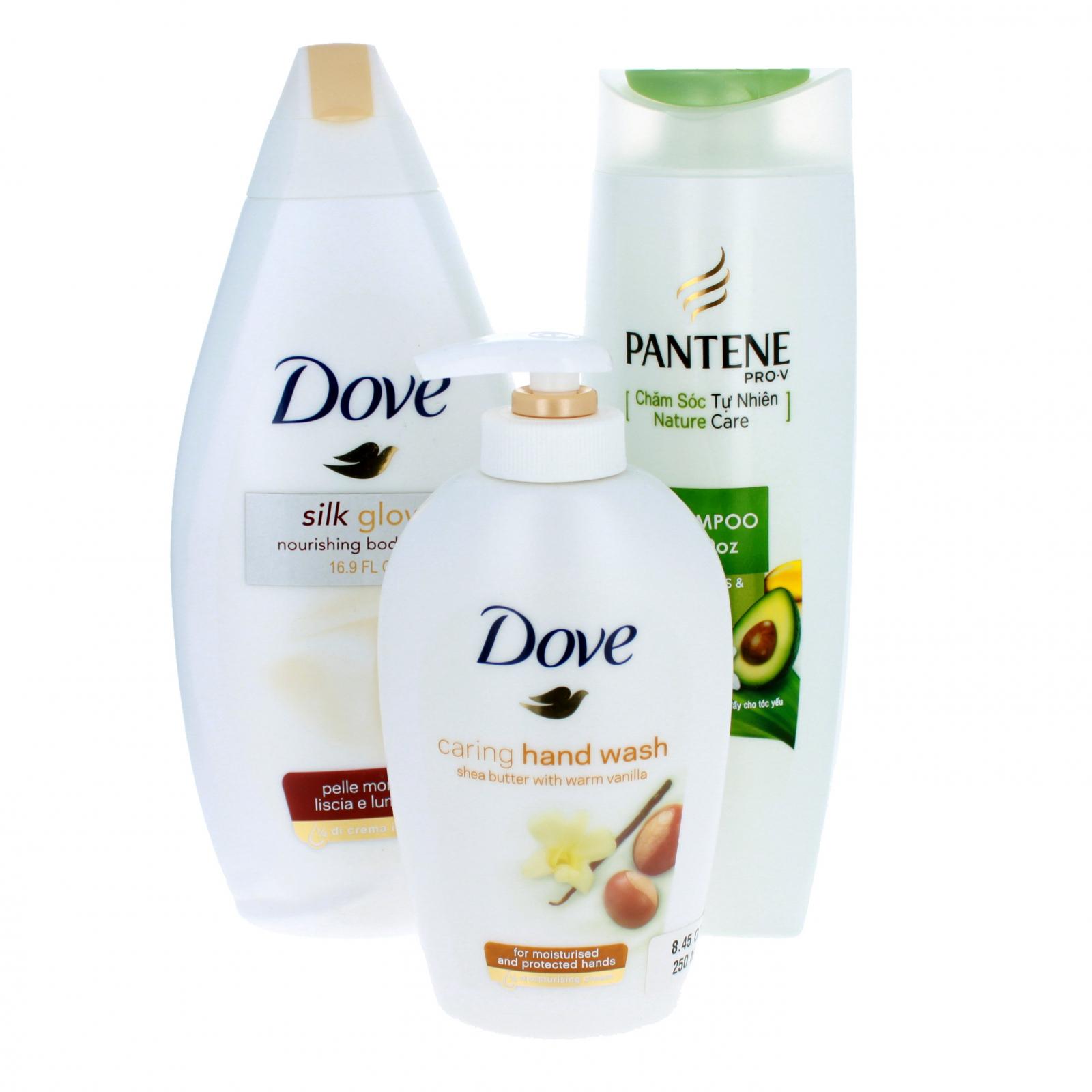 Dove Pantene Womens Spa Bath Body 3 Piece Care Set