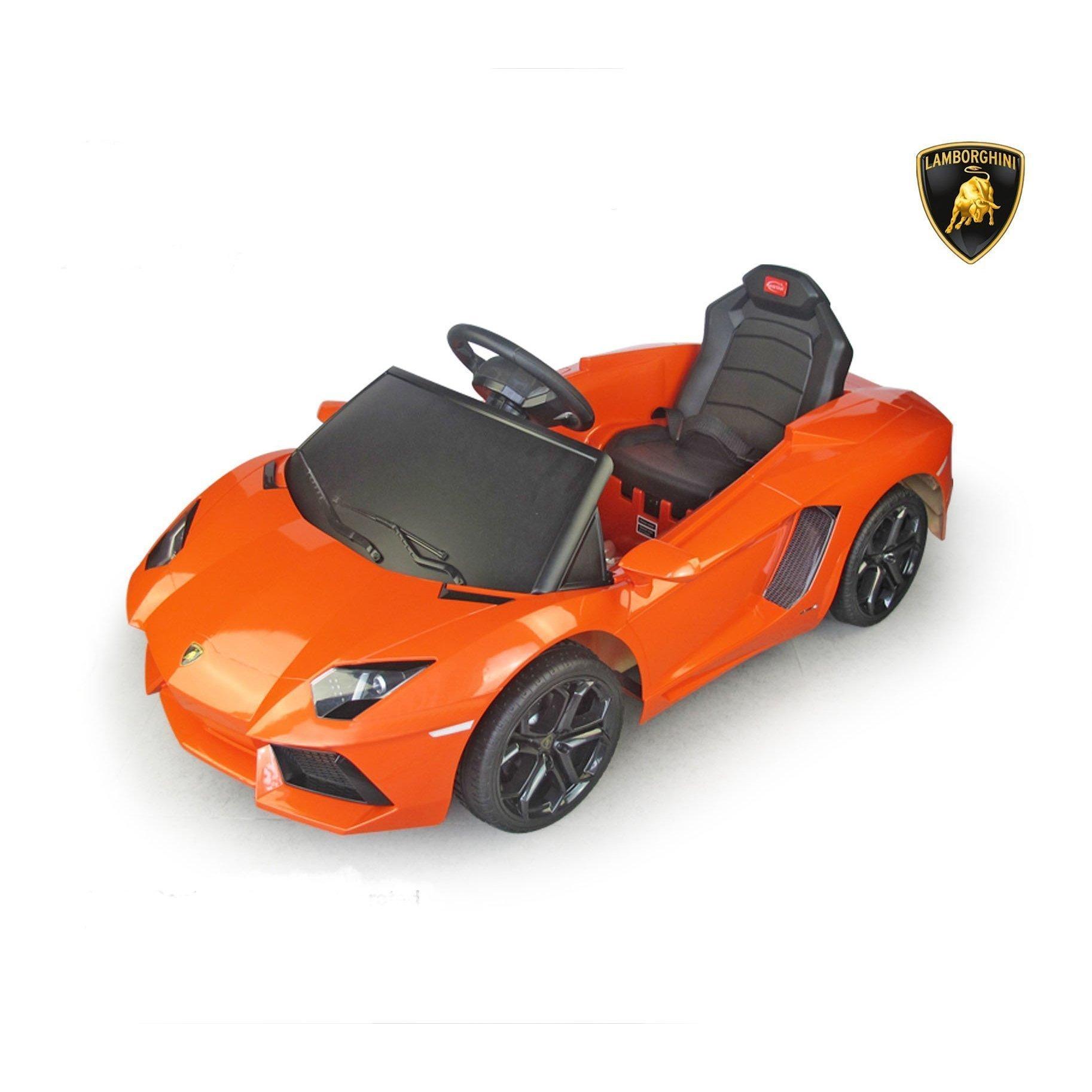 Licensed Lamborghini Aventador 6V Kids Battery Powered Ride On Car in Orange