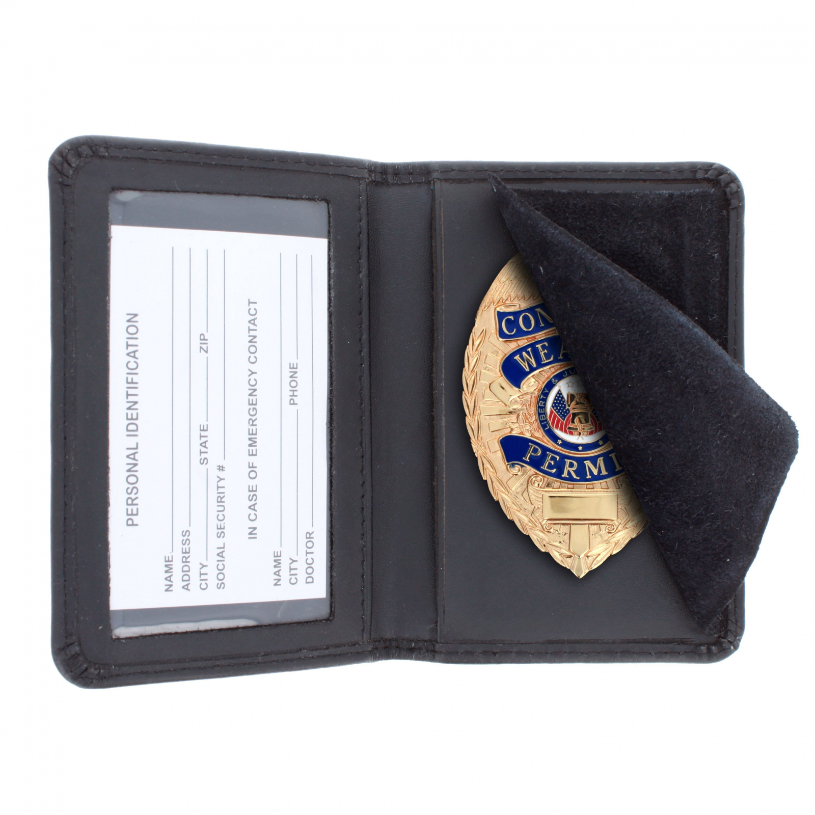 100% Genuine Leather Badge Holder