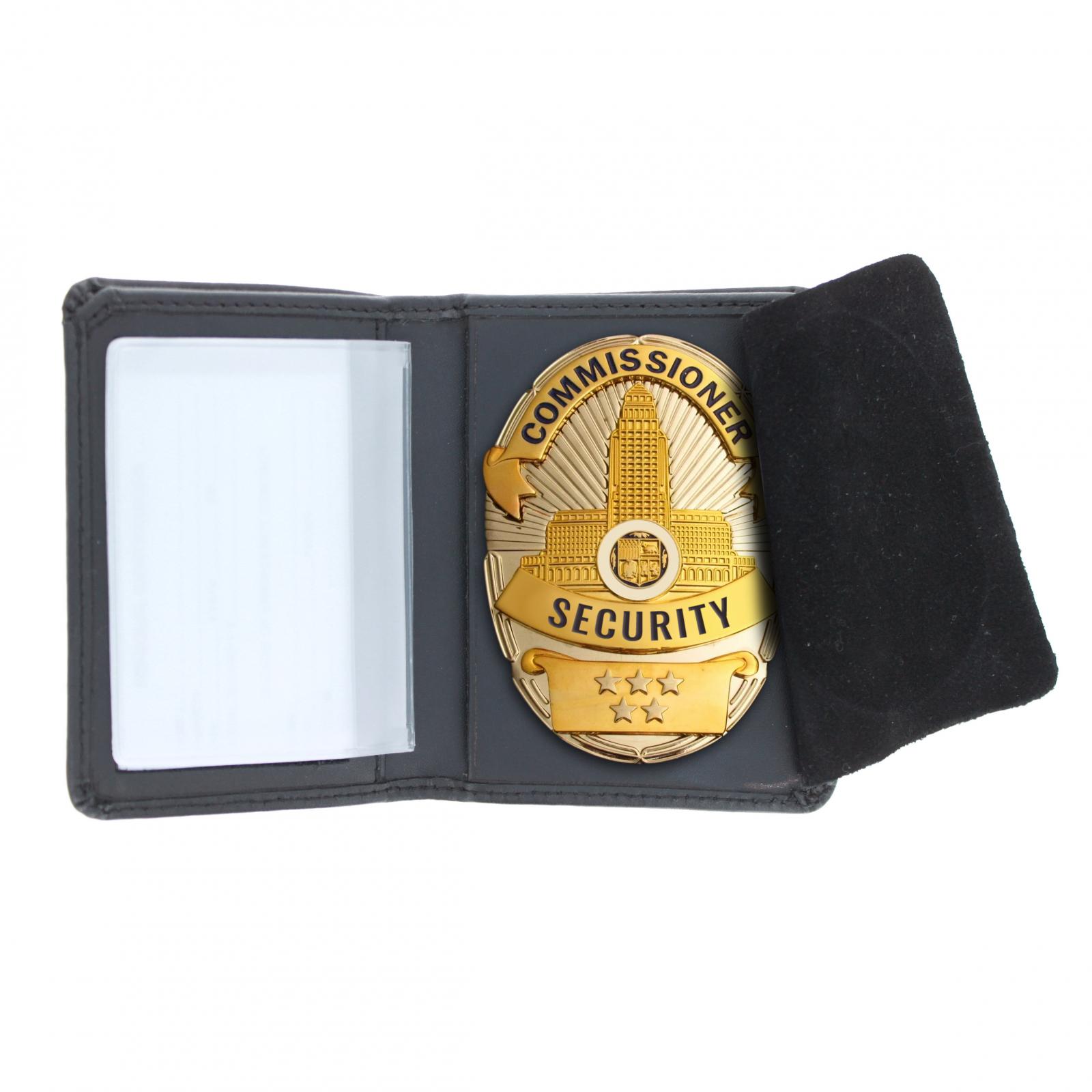 Law Enforcement Badge Wallet Bill Fold Oval Shape