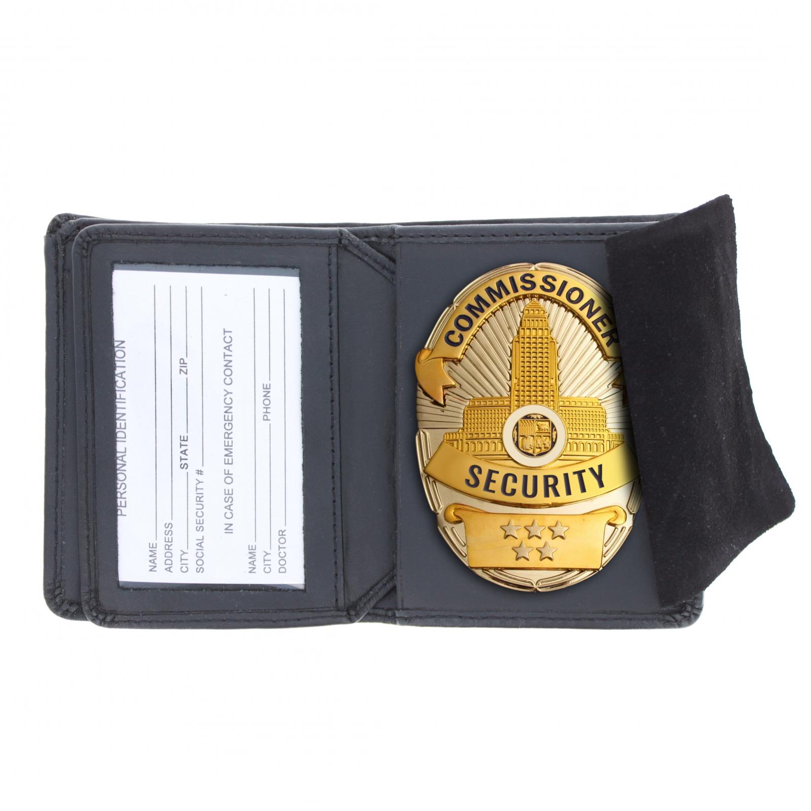 ASR Federal Law Enforcement Leather Hidden Badge Wallet - Oval