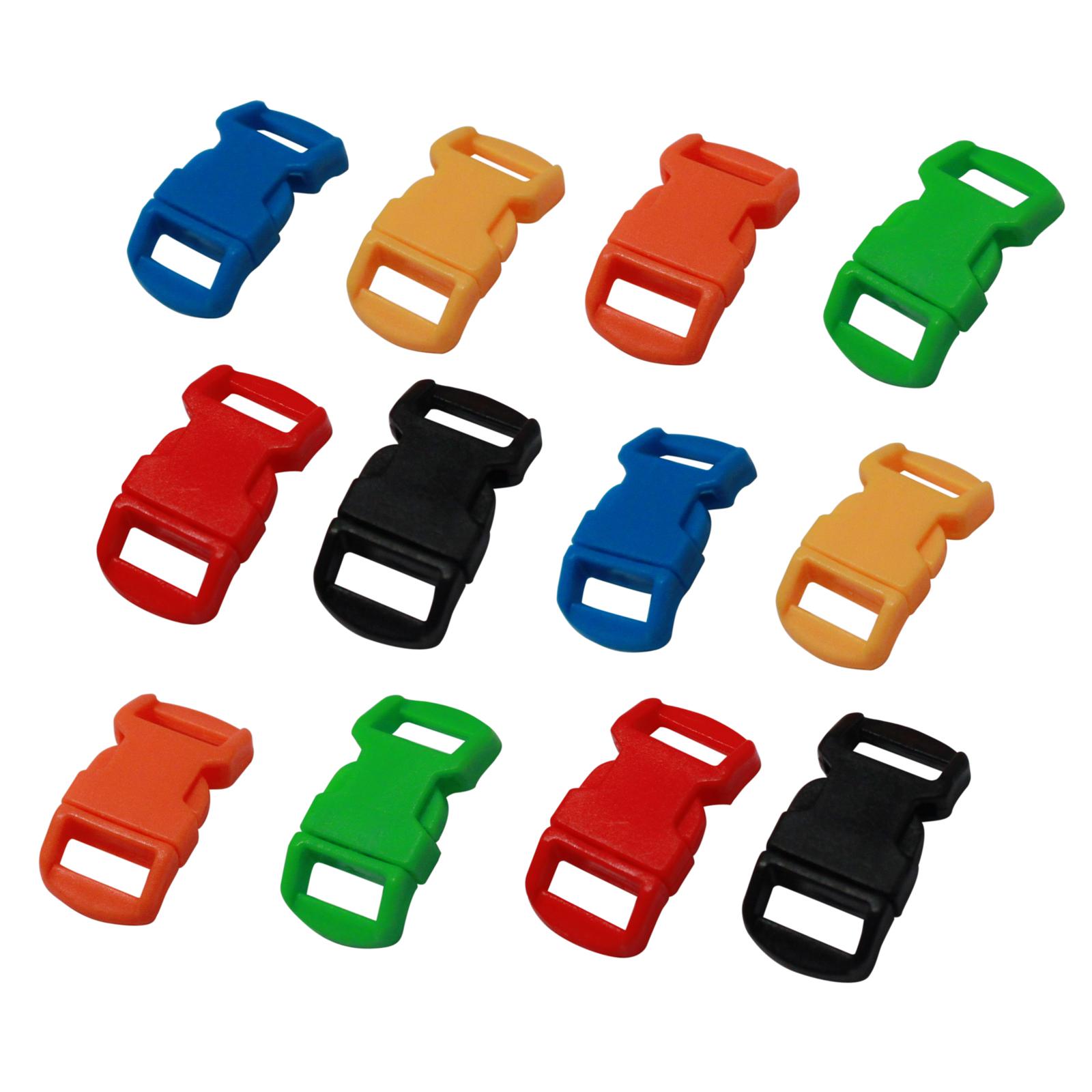 (6 Pack) Paracord Bracelet Buckle Set Assorted Colors 15mm .5 Inch