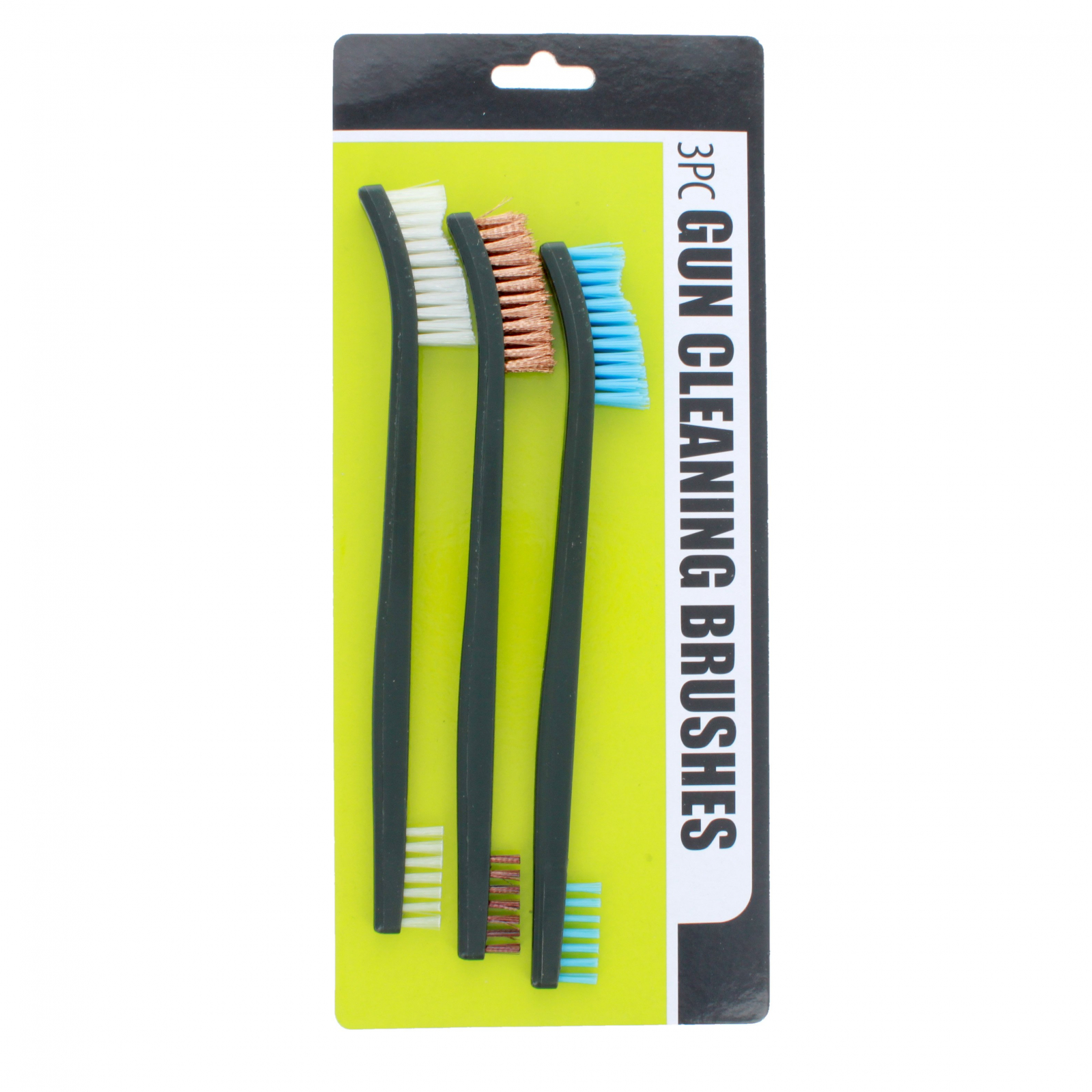 ASR Outdoor Gun Cleaning Brushes 3 Piece Set Bristle Variety