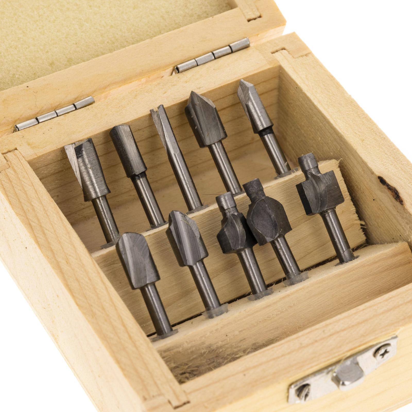 10pc Universal Tool High Speed Steel Titanium Mini Router Drill Bits