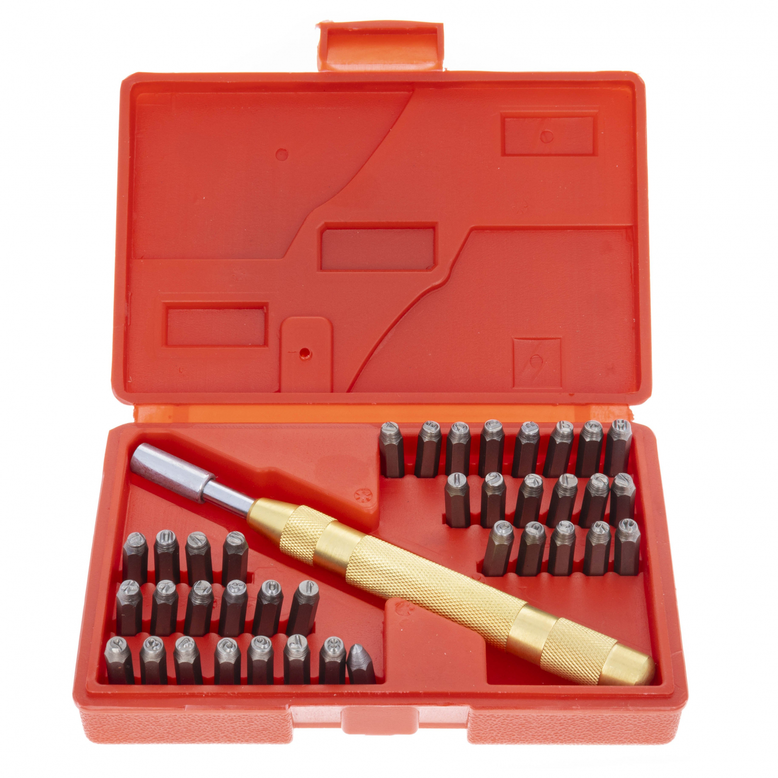 Universal Hobby Number and Letter Stamping Set Automatic Punch Crafts 38 Pieces