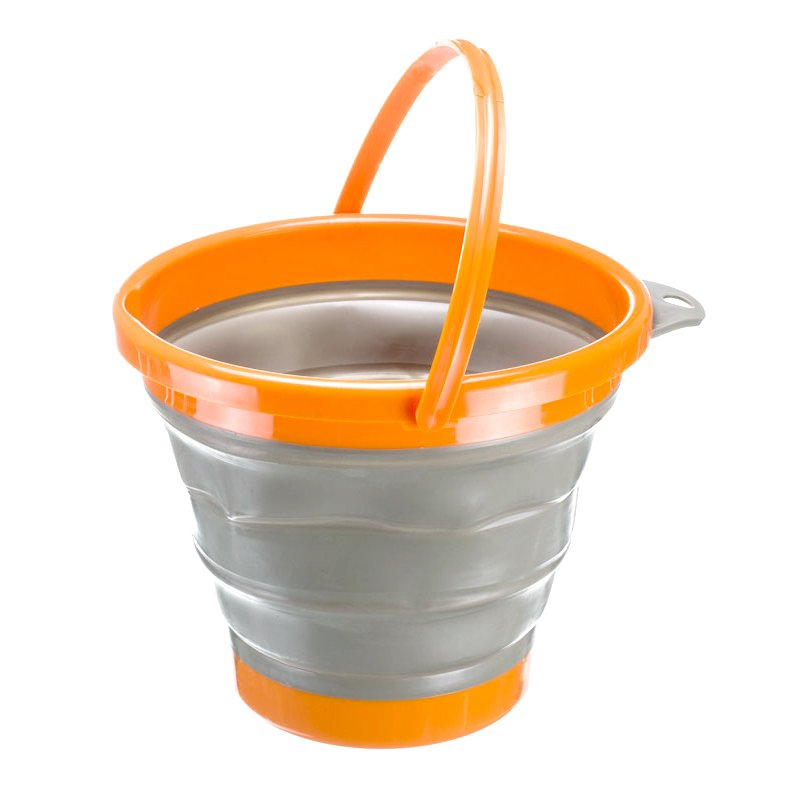 ASR Outdoor Silicone Collapsible 10L Gold Panning Bucket