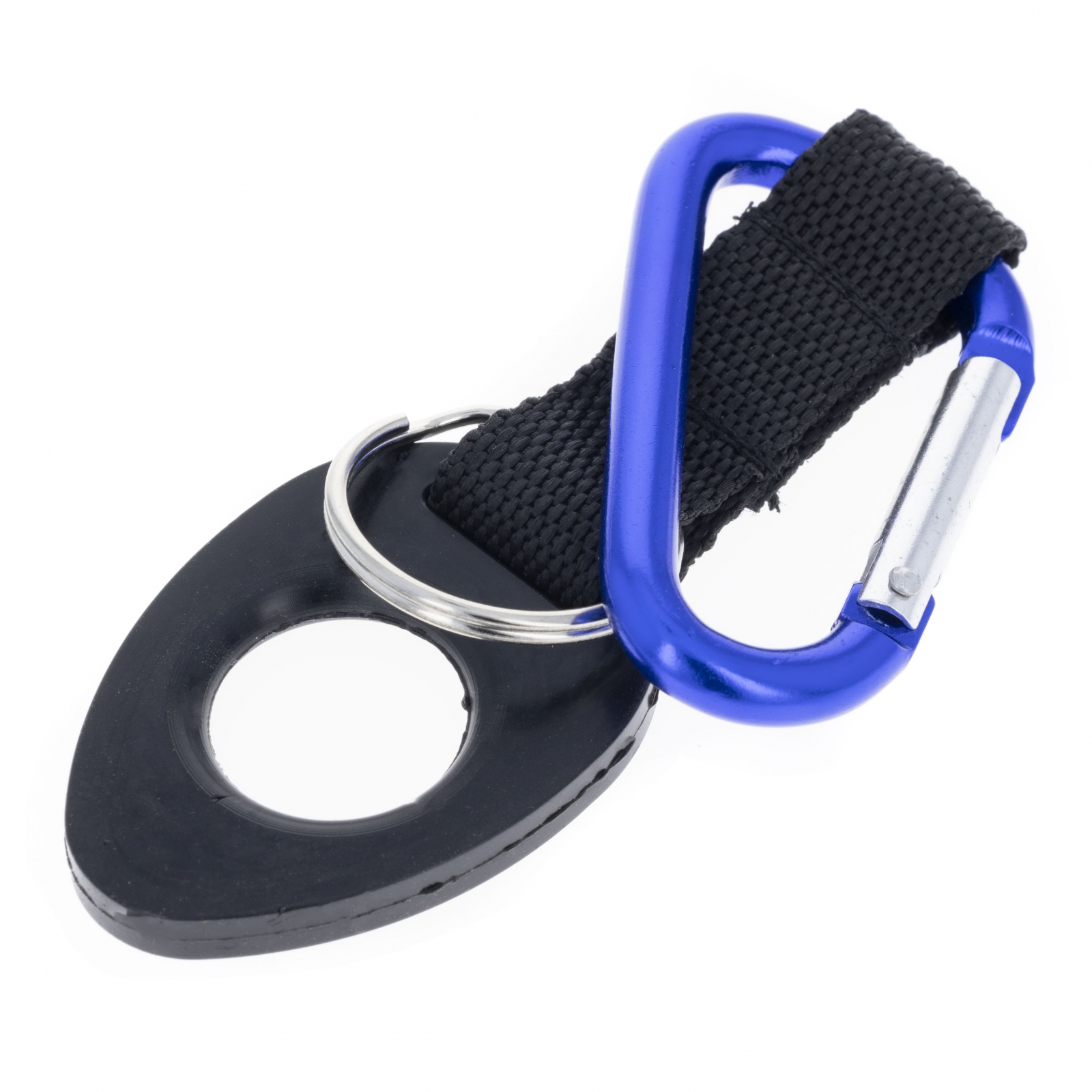 6mm Water Bottle Holder With Blue Aluminum Carabiner Attachment