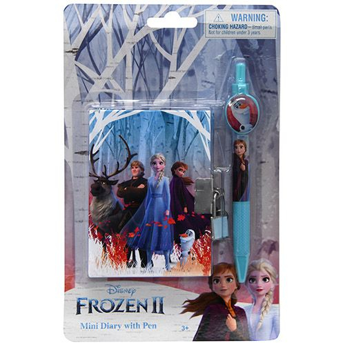 Frozen 2 Secret Locking Mini Diary Journal and Pen Set
