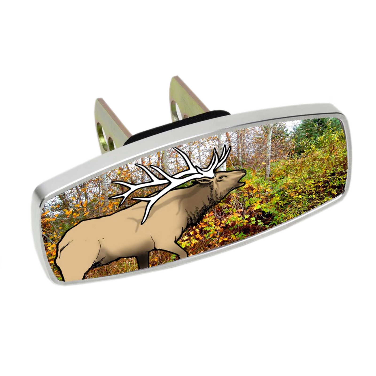 HitchMate Premier Series Hitch Cap Cover - Elk