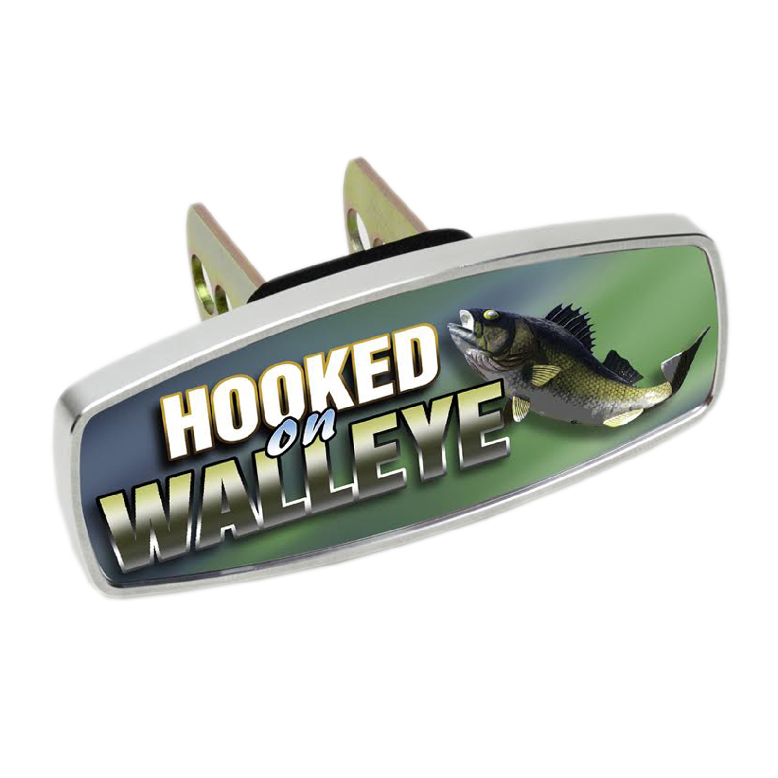 HitchMate Premier Series Hitch Cap Cover - Hooked on Walleye