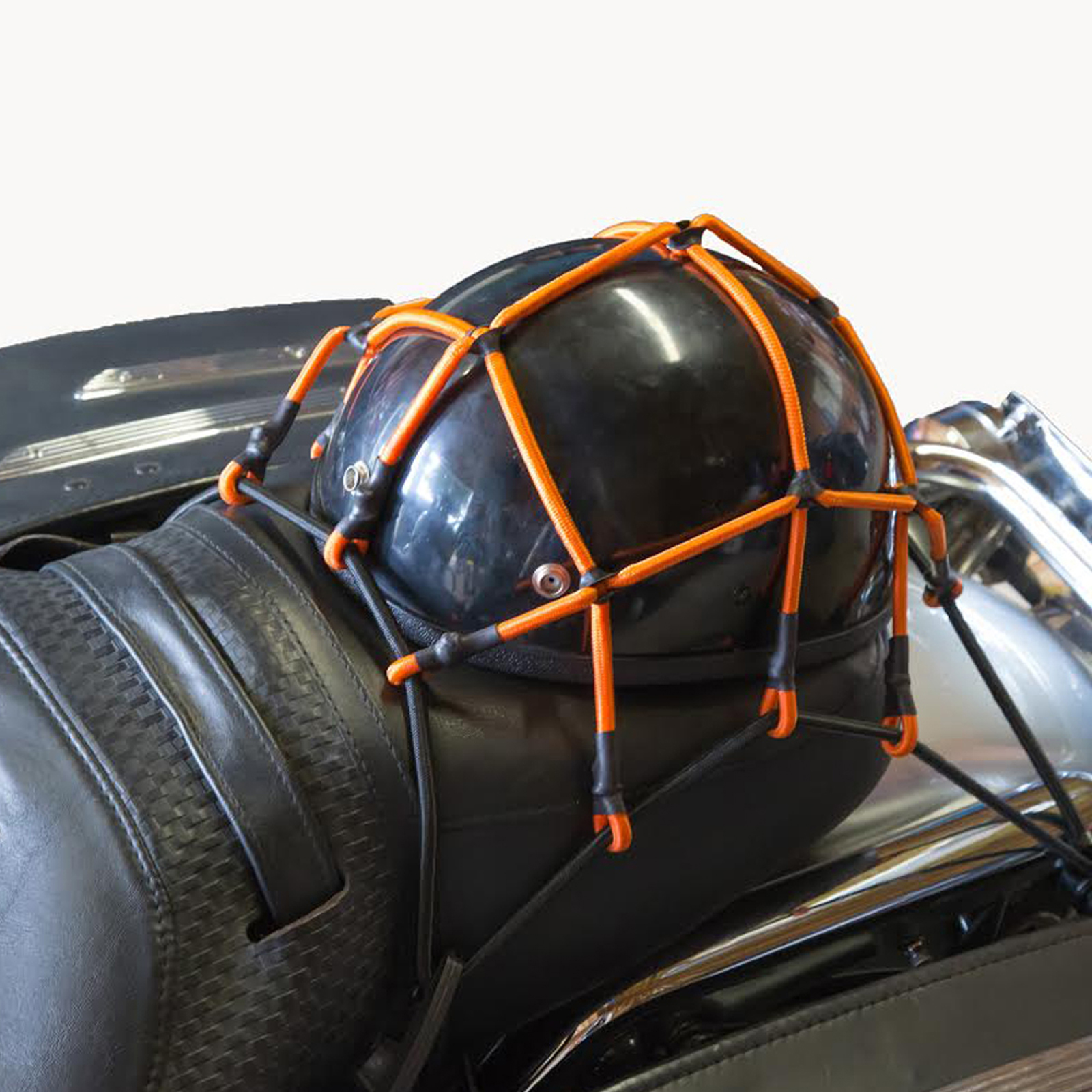 Heininger Cargo Web Net 12 x 12 Inch Durable Stretch 6 Hooks and Storage Case