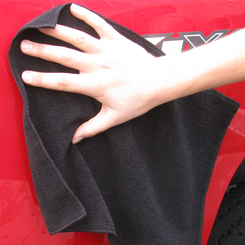 Heininger GarageMate Ultra Absorbent Microfiber Cleaning Cloth Black
