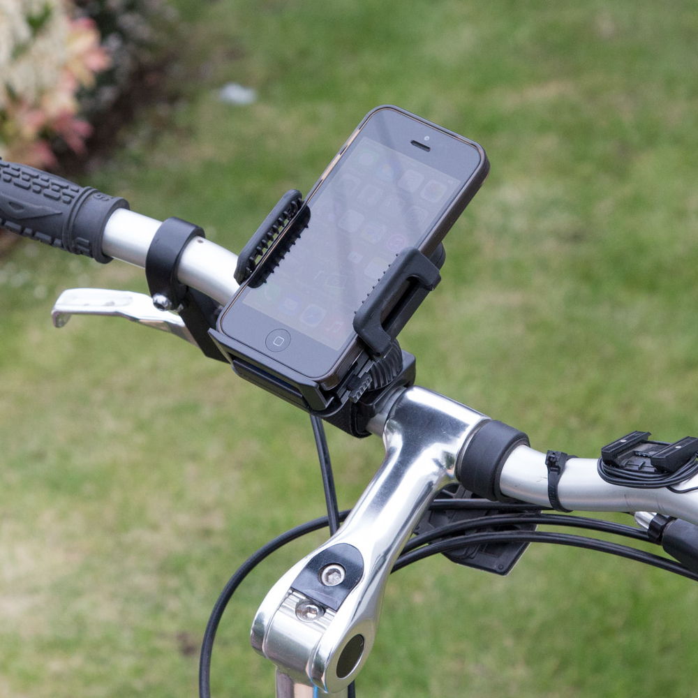 Car Mount GPS iPhone Holder for Strollers Bikes, Motorcycles, and Handlebars