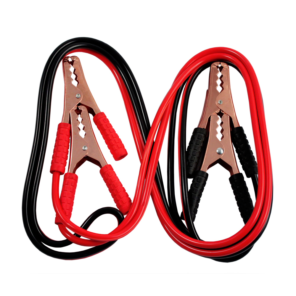 Heavy Duty Automotive Battery Power Booster Jumper Cables No Tangle Emergency Start Up 10 Gauge 10 Feet 150 AMP Cords