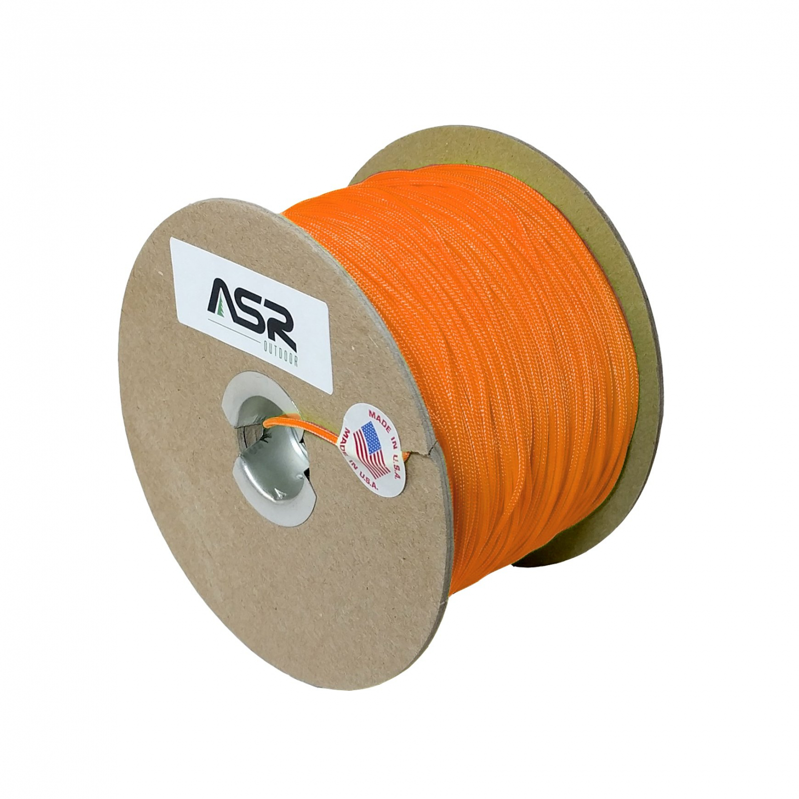 ASR Outdoor Cord 325lb Survival Sport Tactical Polyester Sleeved Rope - Orange 50 ft