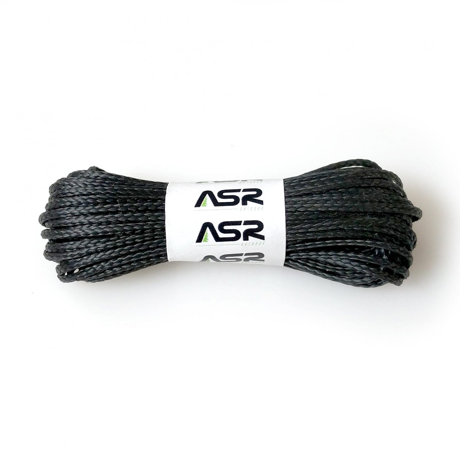 ASR Outdoor Technora Composite Survival Rope 400lb Breaking Strength 500ft Black