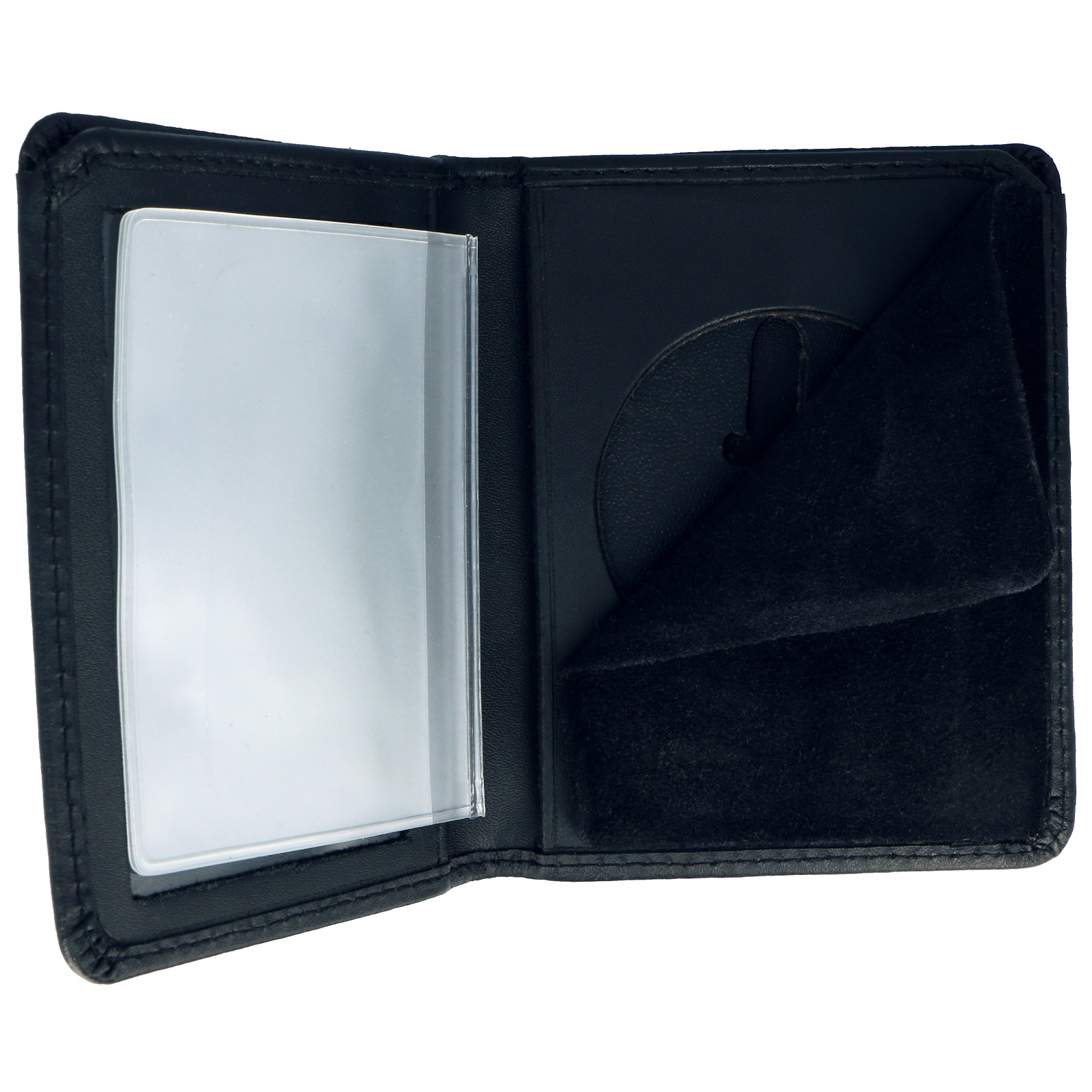 ASR Federal ID Document Holder Law Enforcement Badge Case Unisex Wallet - Round