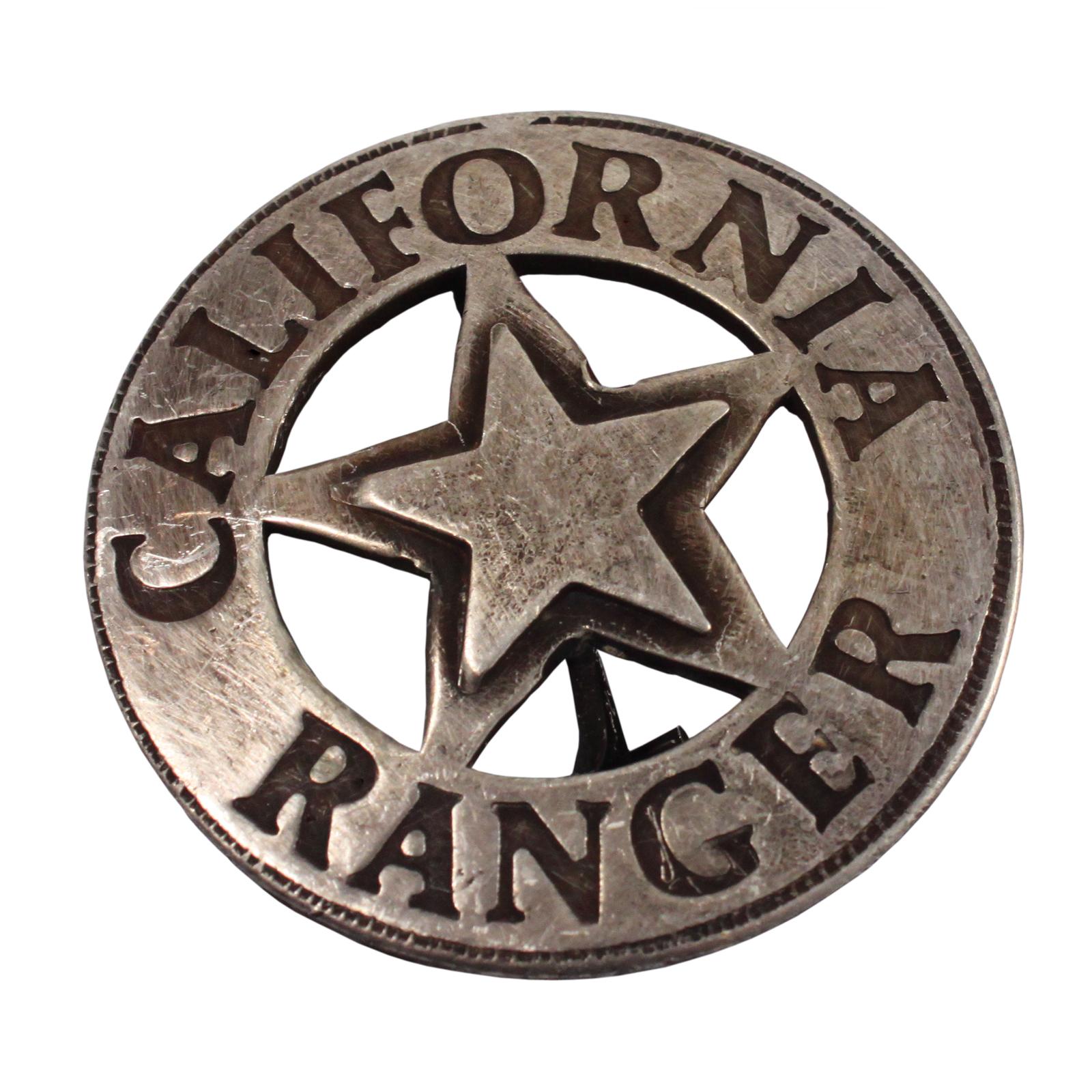 California Ranger Old West Badge