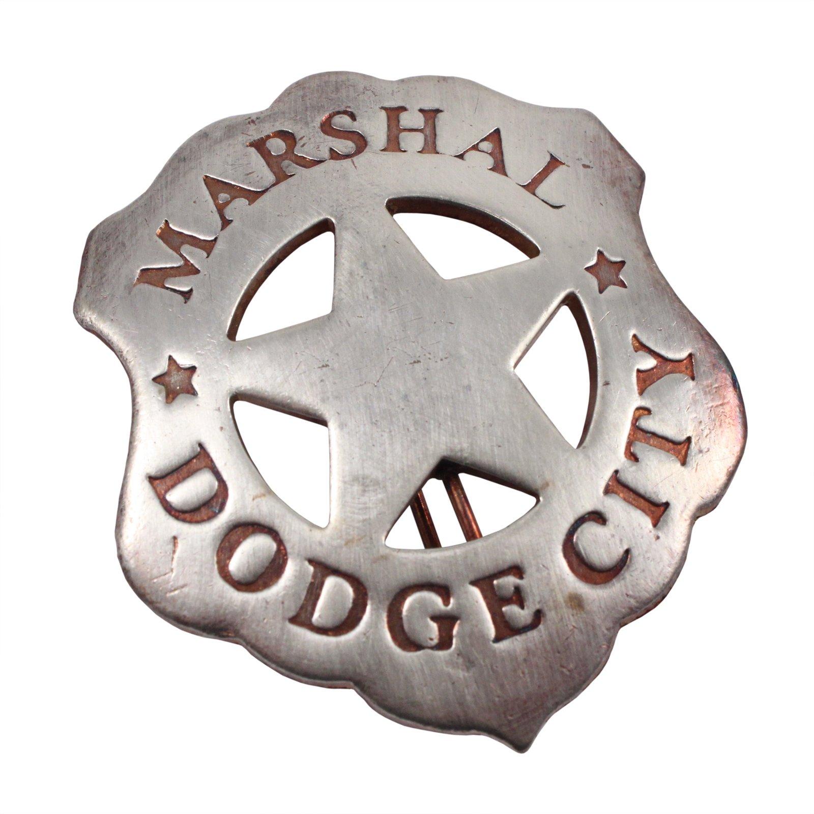Dodge City Marshal Old West Badge