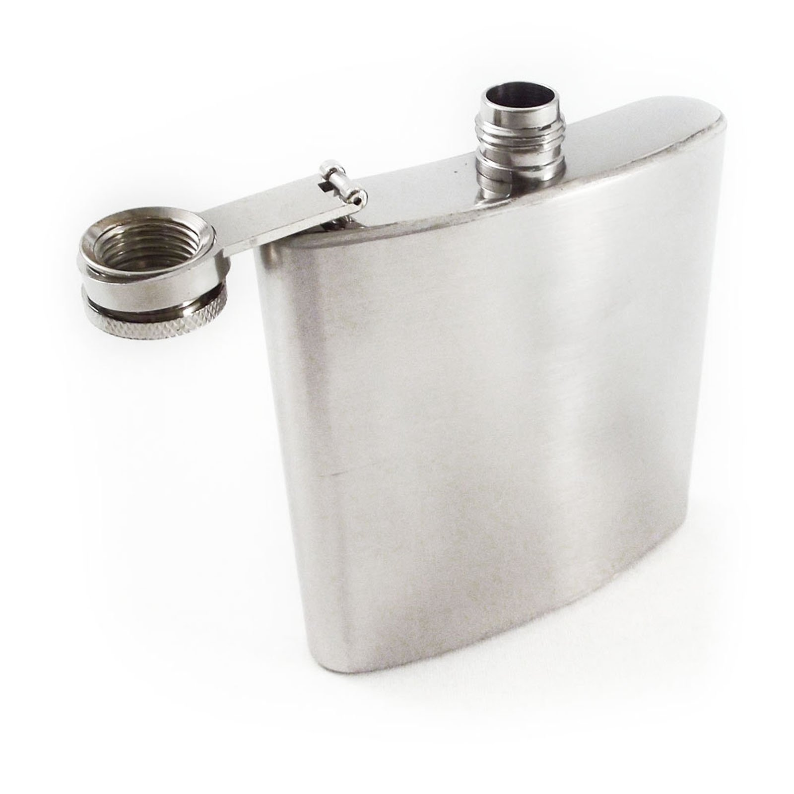 8oz Chrome Stainless Steel Portable Hip Flask