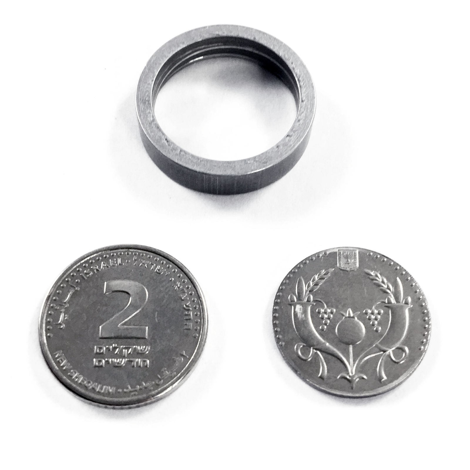 MicroSD Hidden Hollow Covert Spy Coin - Authentic International Mint, Israeli 2 Shekel