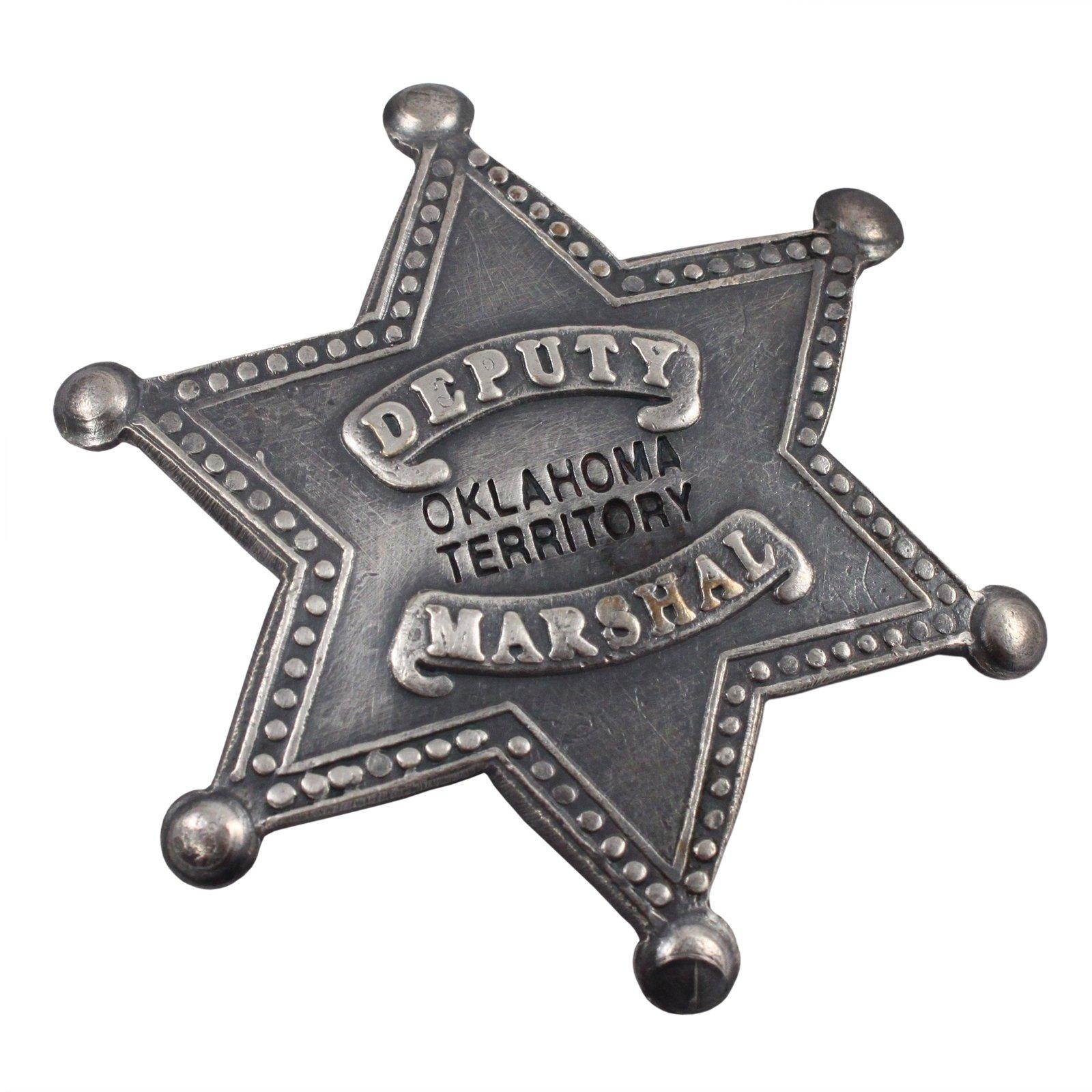 Oklahoma Territory Deputy Marshal Old West Badge