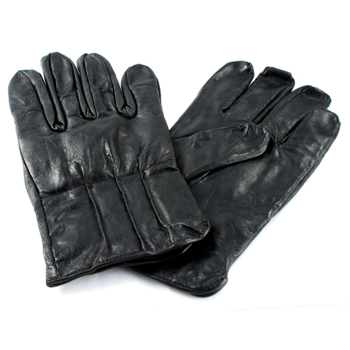 Full Finger Leather Defender Tactical Glove Law Enforcement 8oz Weight - Large