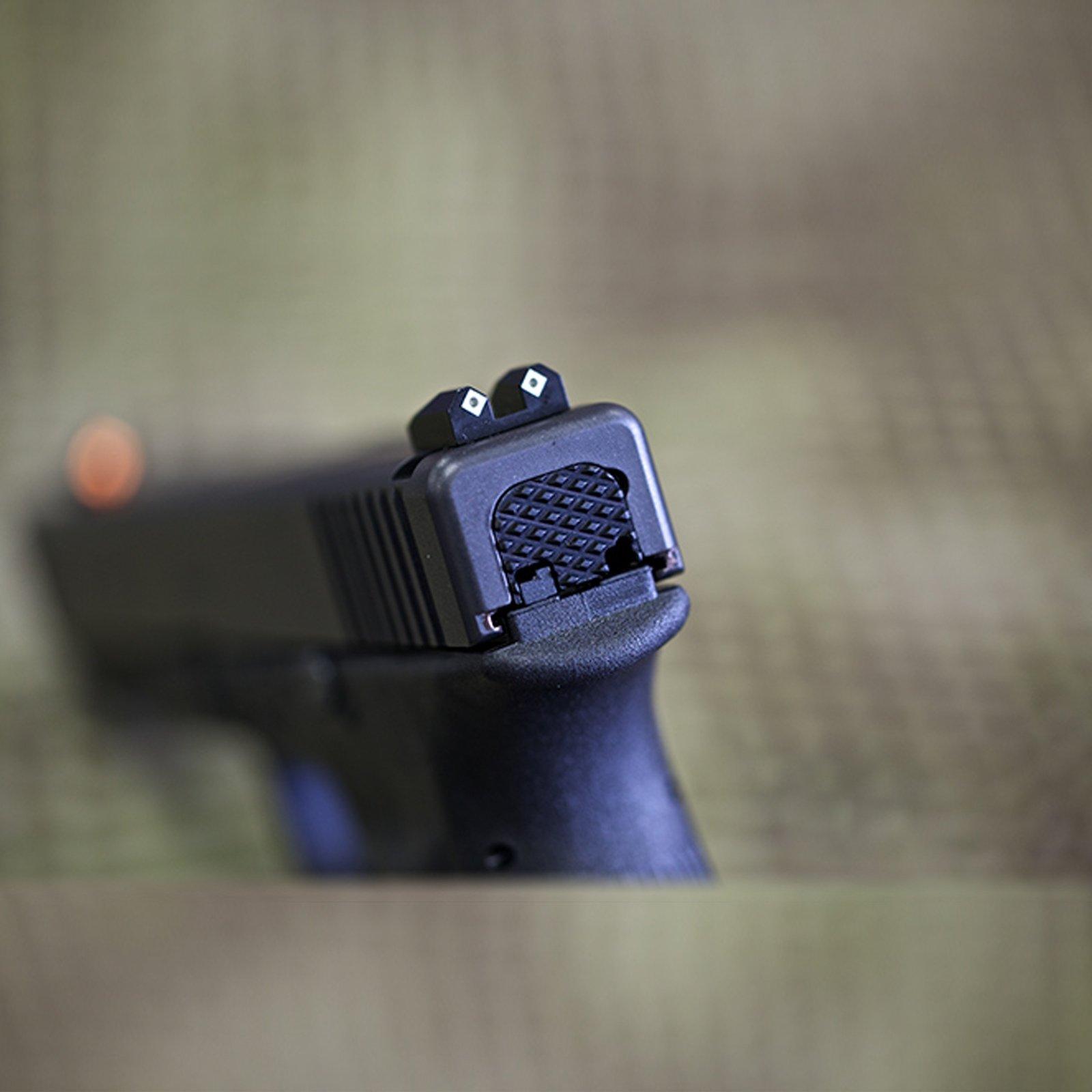 Flatline Ops Slide Cover Plate for Glock - 30 Degree Pattern