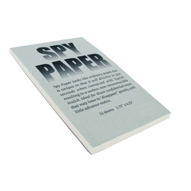 Disappearing Spy Paper Dissolving NotePad Letter Journal 32 Sheets