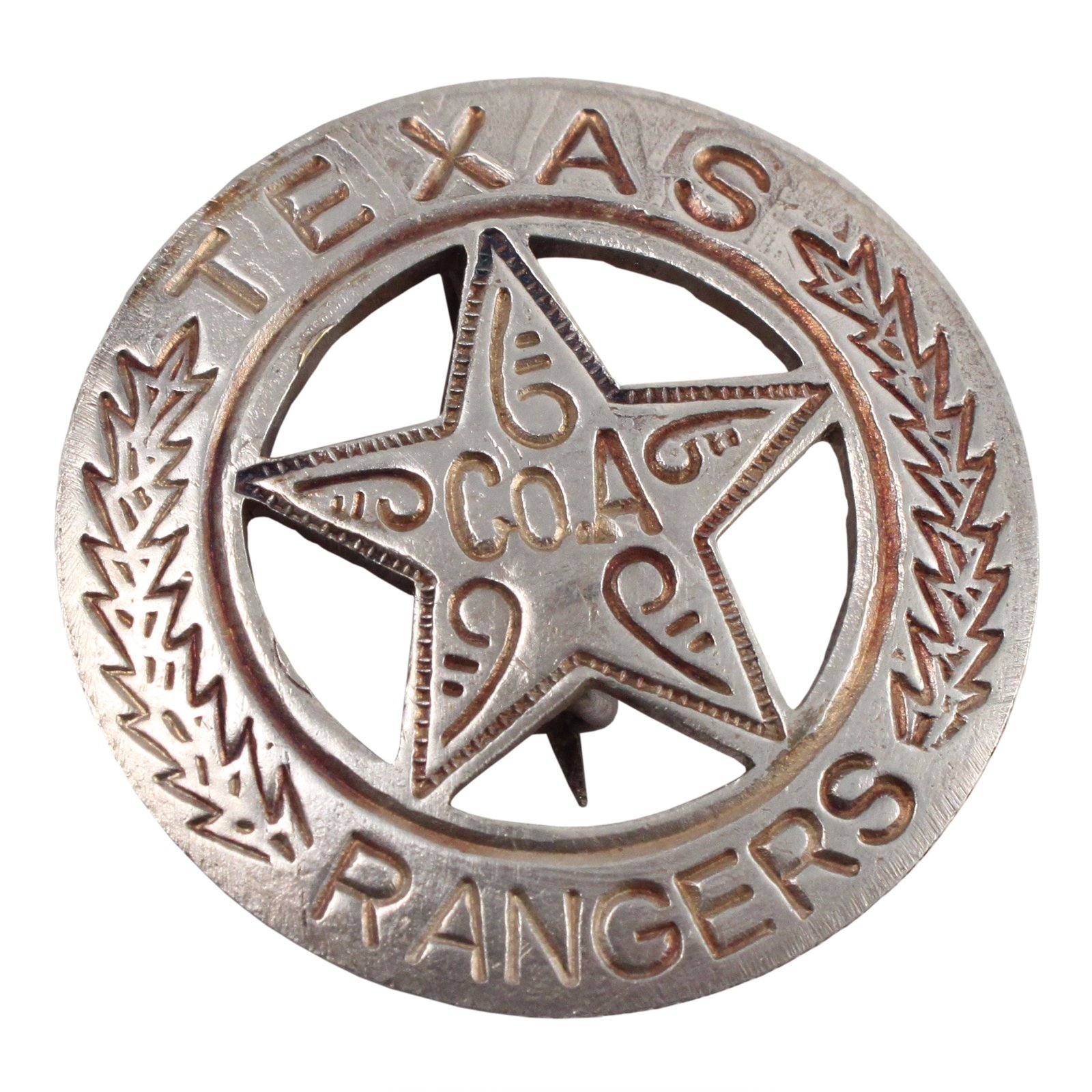 Texas Rangers Company A Star Old West Badge Front