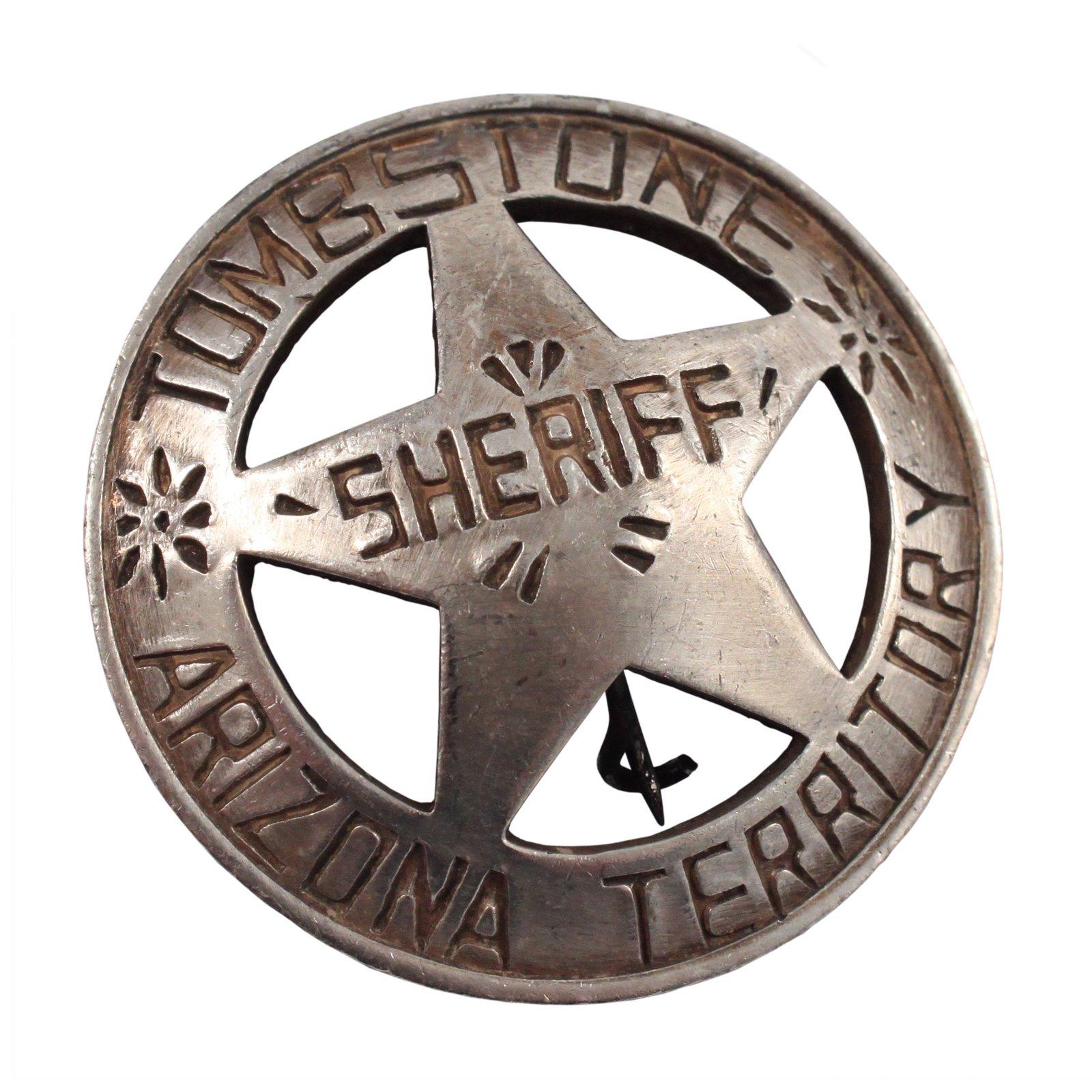 Arizona Territory Tombstone Sheriff Old West Badge