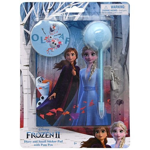 Disney Frozen 2 Private Diary Journal Pen and Sticker Set