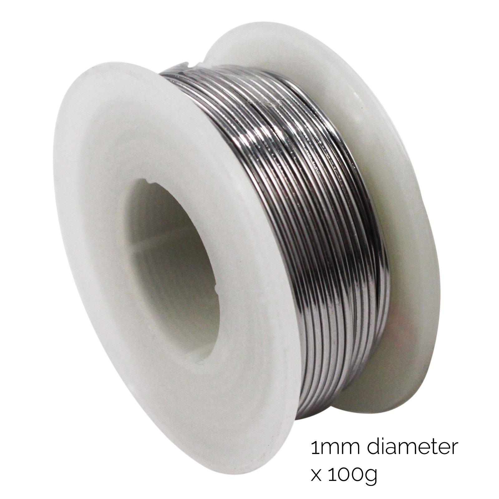 Universal Tool Reeled Solder with Flux Coating 100 Grams 1mm Diameter