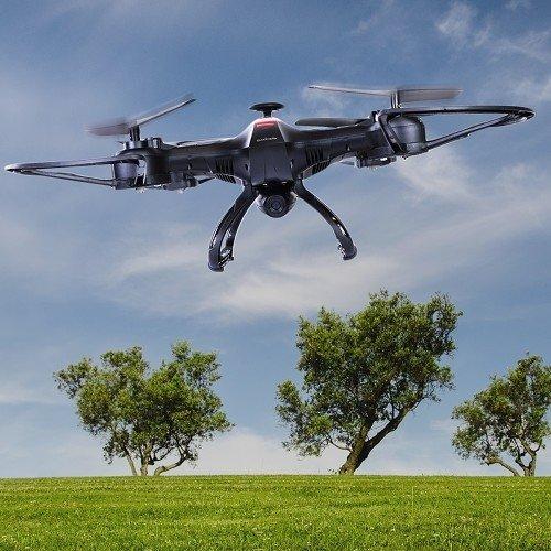 Sky Ninja 7 Inch HD Video 2.4 GHz RC Quadcopter Drone Black Lifestyle