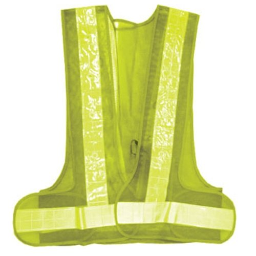 Safety Work Vest 16 LED Flashing Lights and Reflective Strips