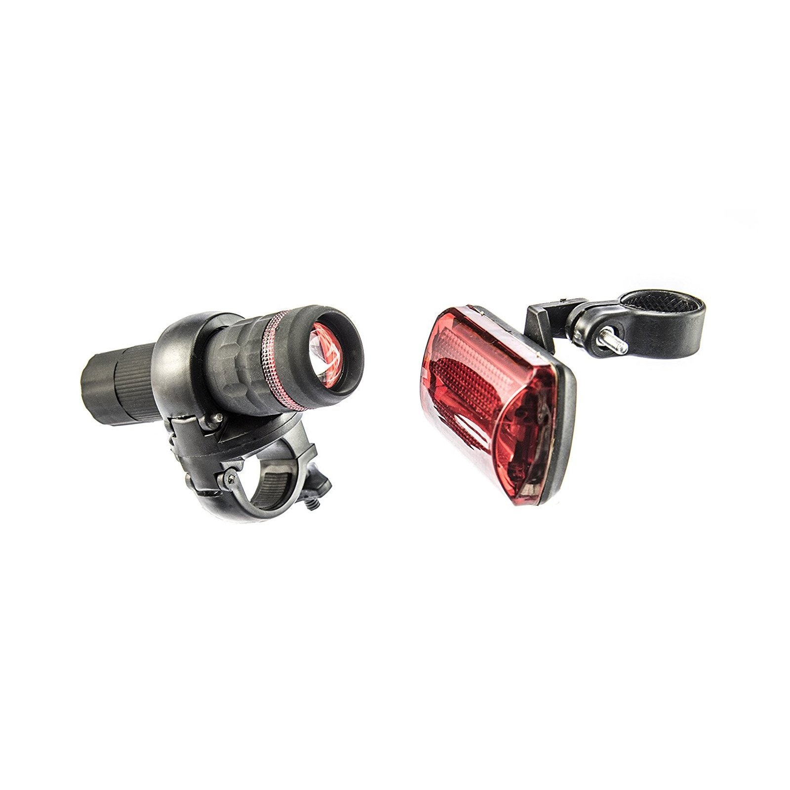 ASR Outdoor Bike Safety Flashlight and Red LED Flasher 2pc