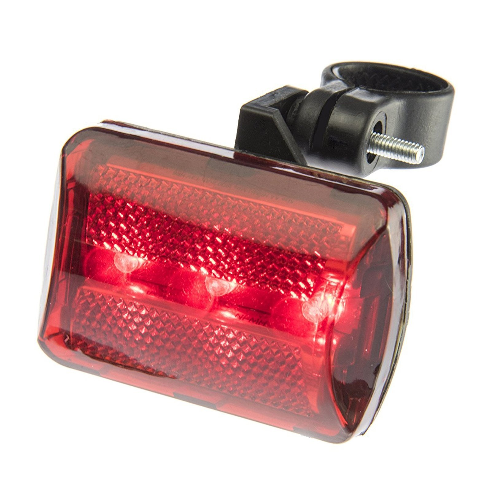 Bicycle Light Red 3 Bulb LED Tail Light Flasher
