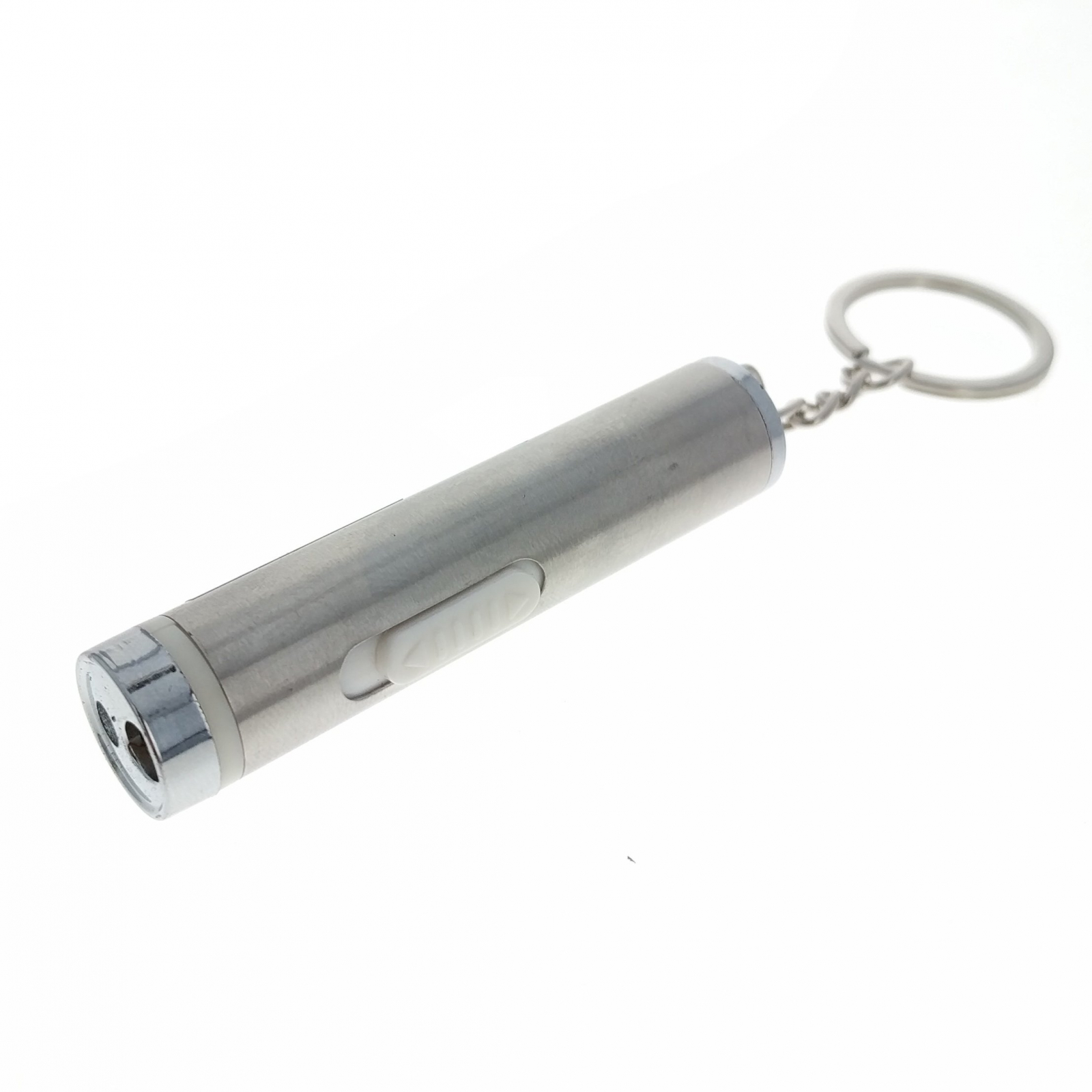 ASR Laser Pointer Key Chain Flashlight Stainless Steel Travel Tool Office