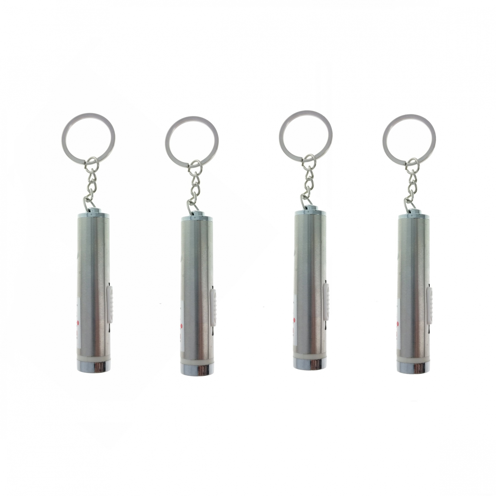 (4 Pack) ASR Laser Pointer Key Chain Stainless Steel Travel Tool Office