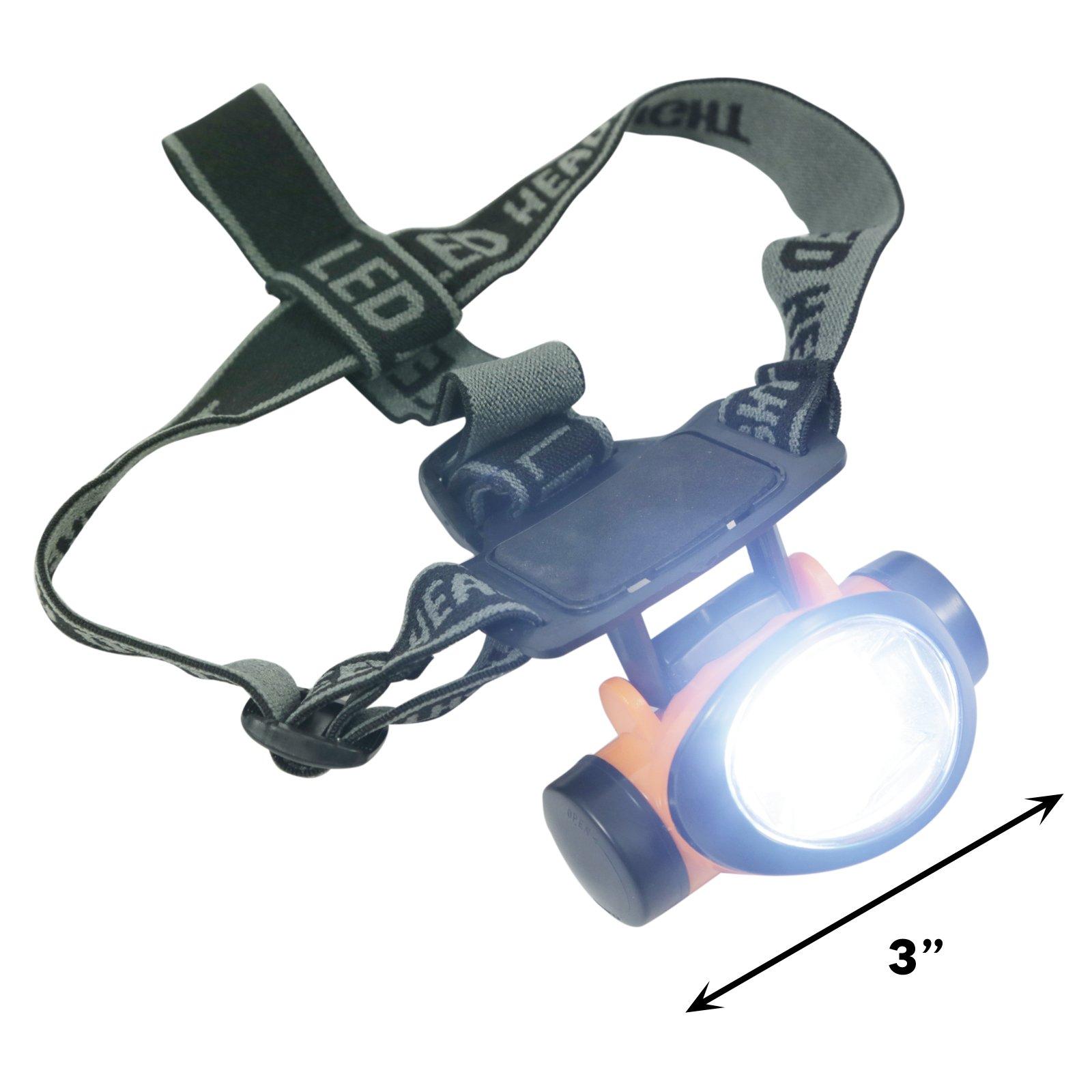 ASR Outdoor 3 Watt Super Bright 200 Lumen COB LED Head Lamp Adjustable - Orange