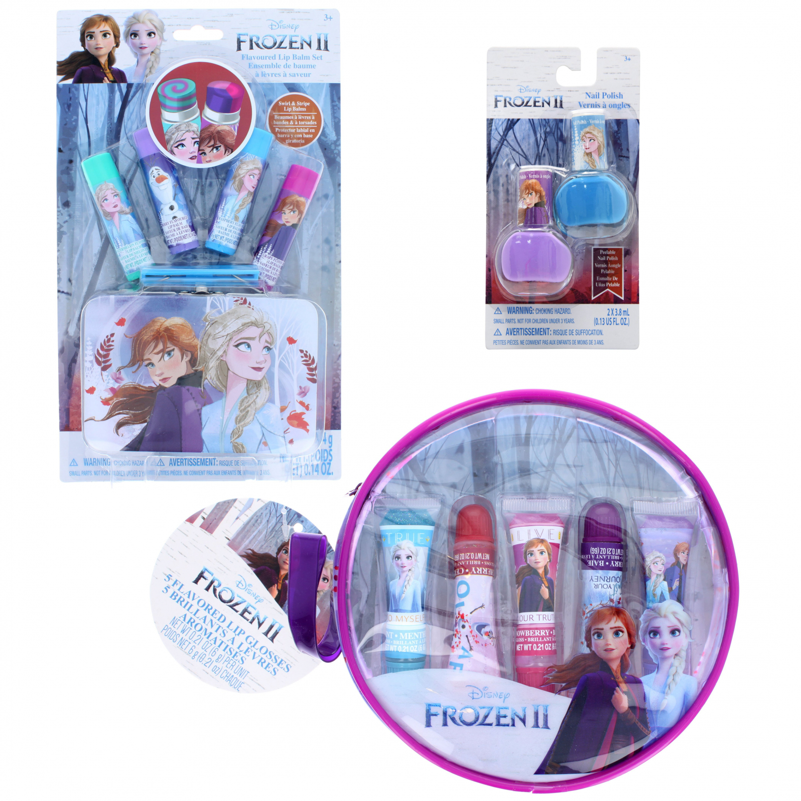 Frozen 2 Makeup Gift Set Includes Nail Polishes and Lip Balm
