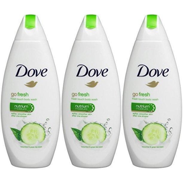 3pk Dove Go Fresh Cool Moisture Cucumber Body Wash
