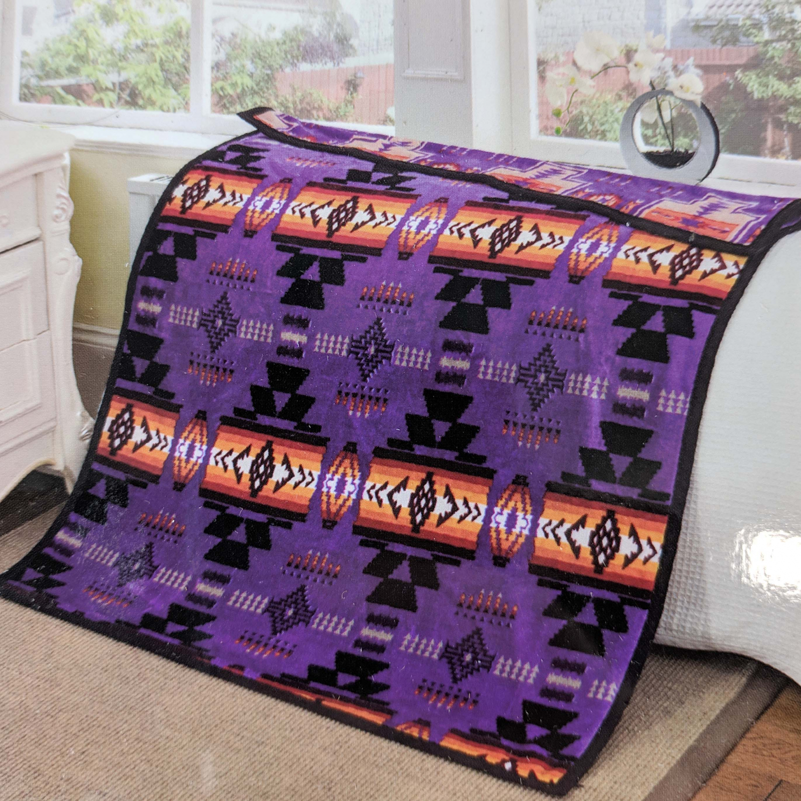 ASR Outdoor Southwest Blanket Reversible Throw - Purple