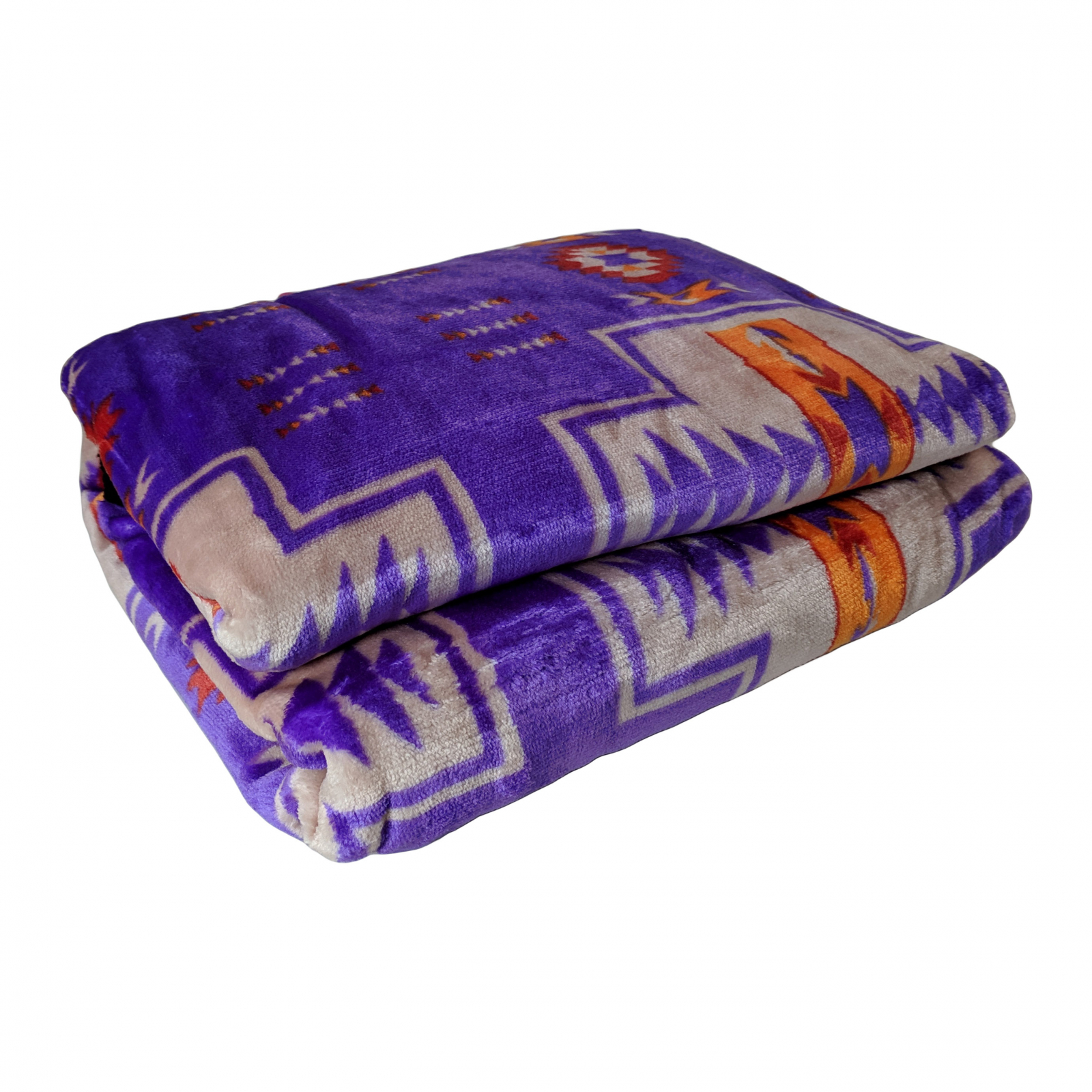 ASR Outdoor Adventure Wilderness Reversible Blanket Southwest Design - Purple