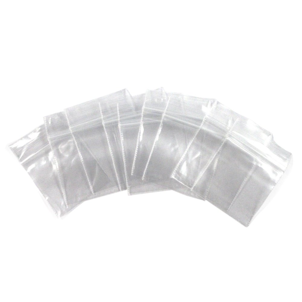 Self Locking Plastic Bag All Purpose Storage Baggies - 100 Pack 1.5 x 1.5 Inches