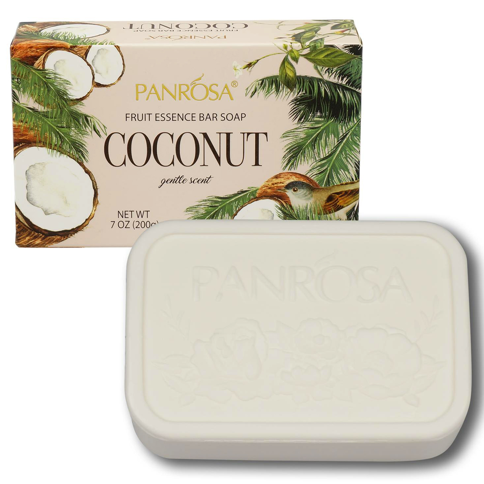 3pk Panrosa Fruit Essence Bar Soap with Gentle Coconut Scent 7oz