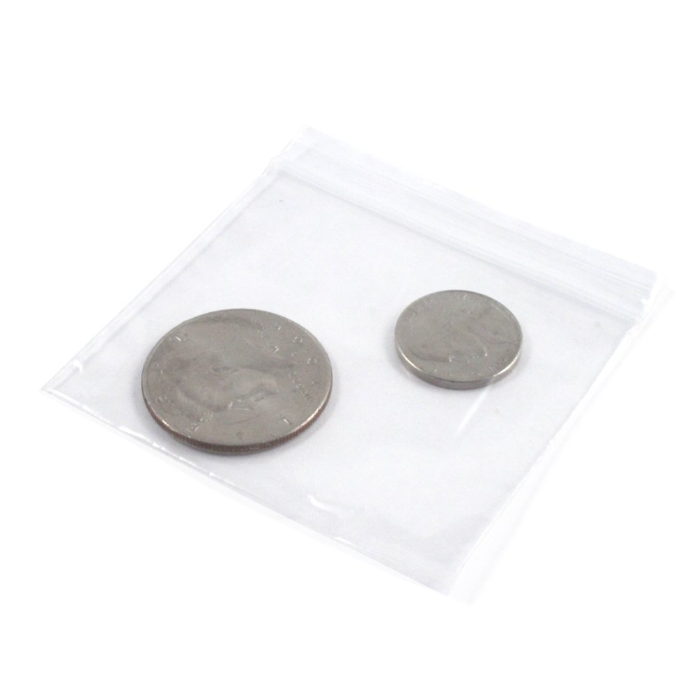 100pk 3 x 3 Self Locking Plastic Bags 2mm Thick All Purpose Storage Baggies