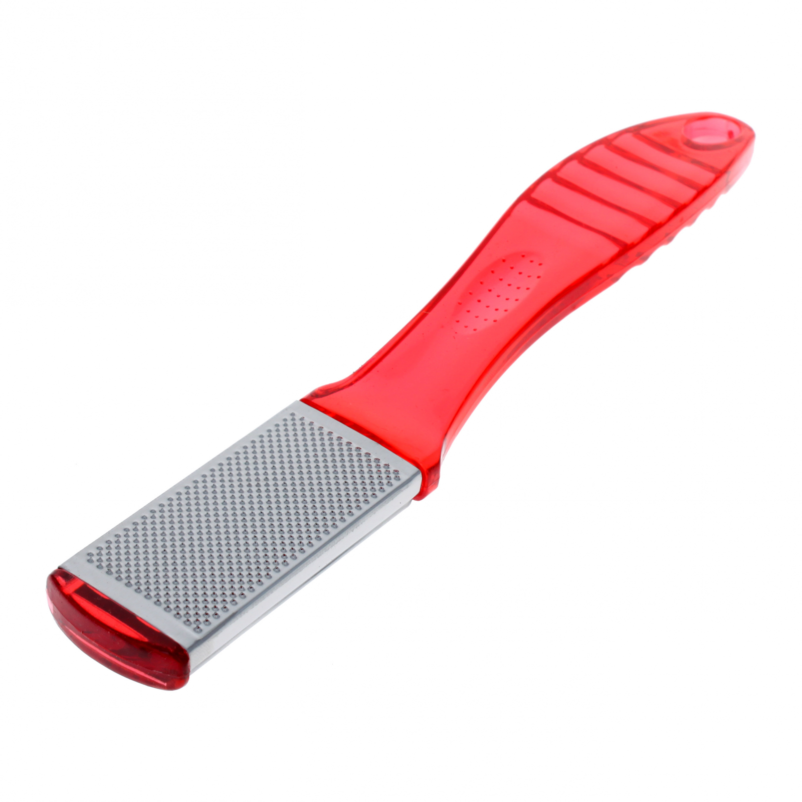 Home Essentials Manicure Pedicure Foot Scrubber File - Red
