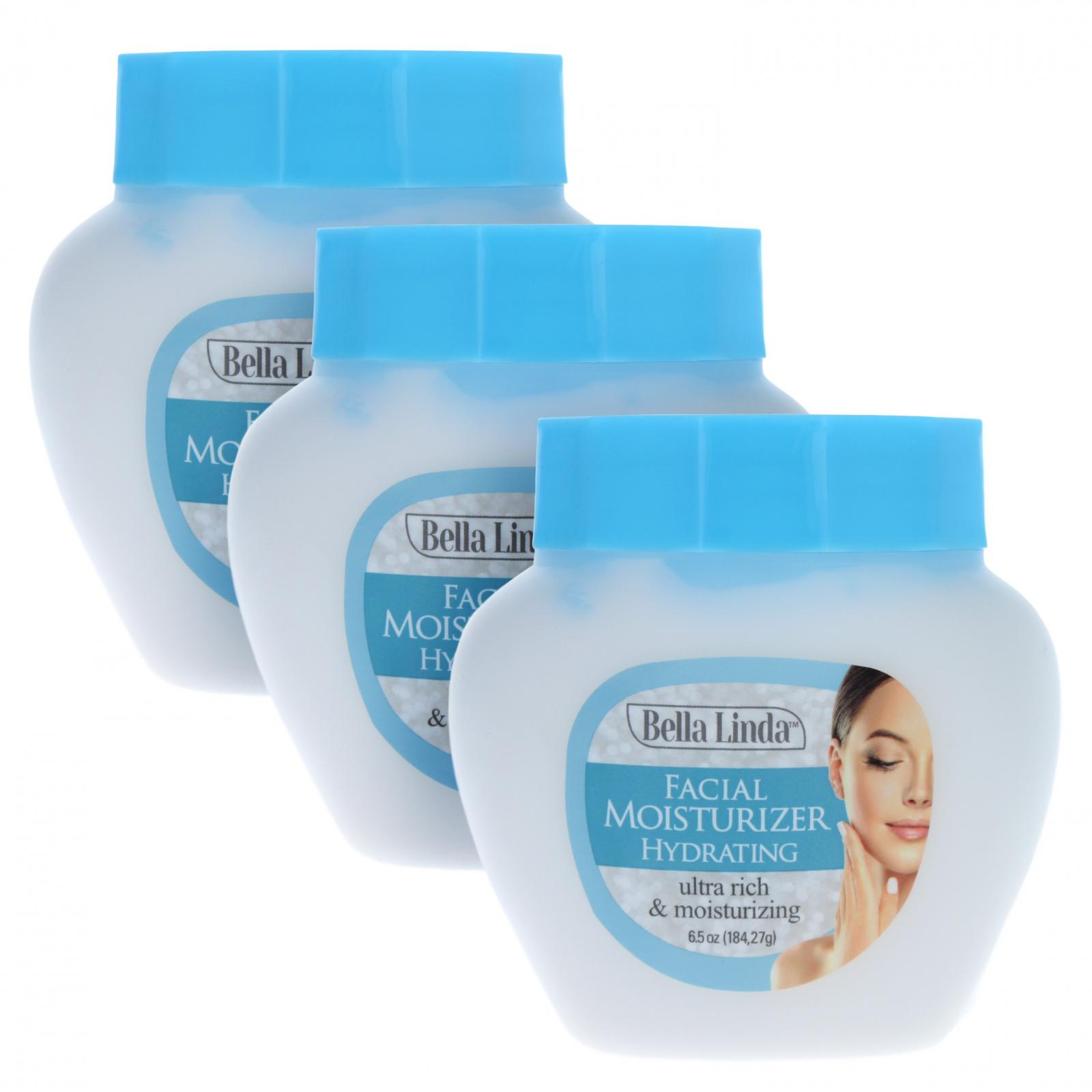 3pk Bella Linda Skin Care Face Moisturizer Cream Lotion 6.5oz